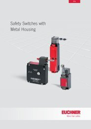 Safety Switches with Metal Housing - EUCHNER GmbH + Co. KG