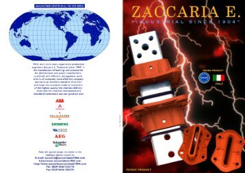 "manufacturer exporter in all the over world - ZACCARIA E. ""industrial ..."