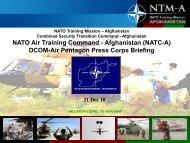 NATO Air Training Command - Afghanistan (NATC-A) DCOM-Air ...