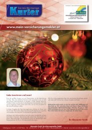 Versicherungskurier Dezember 2008 - Alexander Tumik ...