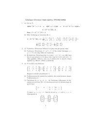 Lösningar till tentan i linjär algebra, TNG002 020822 1. (a) Lös ut X ...