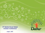 5th Motilal Oswal Global Investor Conference - Dabur India Limited