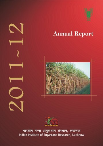 2011-12 (English) - Indian Institute of Sugarcane Research