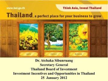 India - The Board of Investment of Thailand