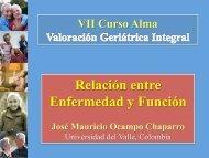 Relación entre enfermedad y función. José Mauricio Ocampo ...