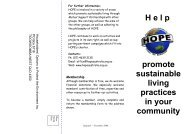 Help HOPE promote sustainable living practices in your community