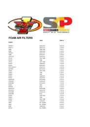 DT-1 2 WHEEL FOAM AIR FILTER 2013.xlsx - Steve Cramer Products