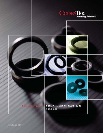 Seals, Self-Lubricating PolyGlyde™ Material - CoorsTek