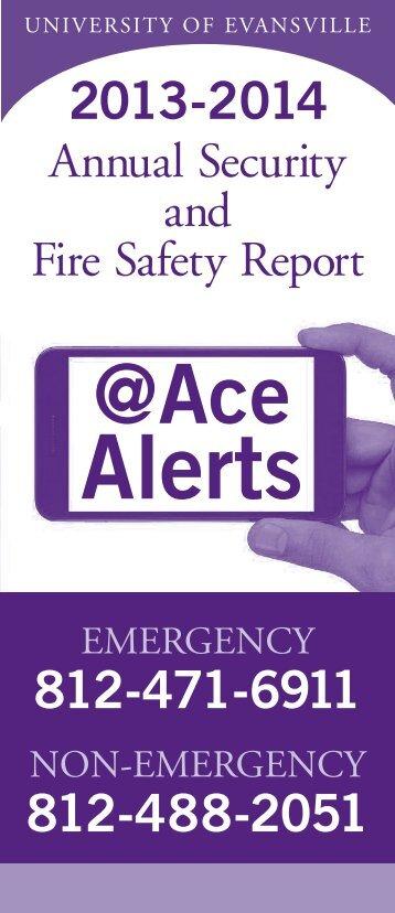 Security Brochure - University of Evansville