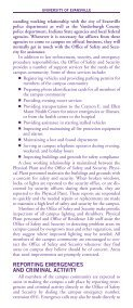 Security Brochure - University of Evansville - Page 3