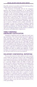 Security Brochure - University of Evansville - Page 6