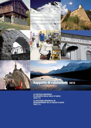Rapporto di valutazione 2012 - Regione Autonoma Valle d'Aosta