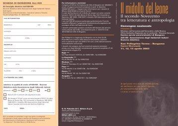 Il secondo Novecento tra letteratura e antropologia - Ufficio ...