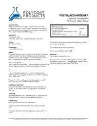 polyglaze hardener - Polycoat Products