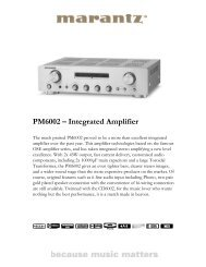 PM6002 – Integrated Amplifier - Reference Audio