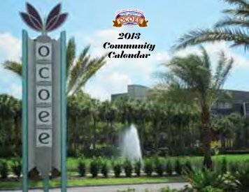 2013 Community Calendar - City of Ocoee
