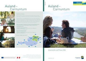 Auland - Carnuntum Auland - Carnuntum - Wachau Nibelungengau