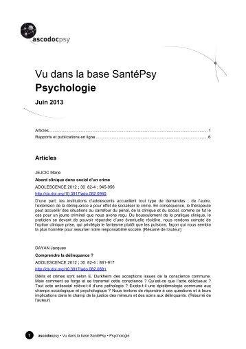 Psychologie - Ascodocpsy