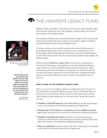 THE HAWKEYE LEGACY FUND - University of Iowa Foundation