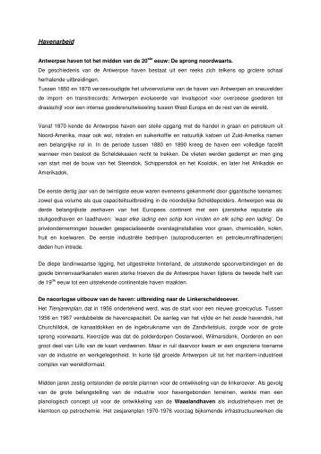 Havenarbeid - Erfgoedcel Waasland