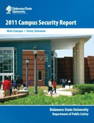 2011 Annual Security Report - Delaware State University