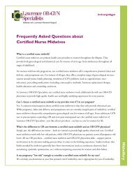 Midwifery Frequently Asked Questions about Certified Nurse Midwives