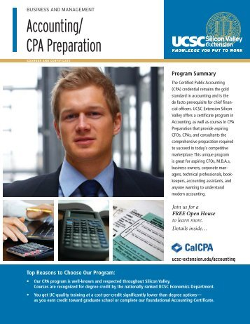Accounting/ CPA Preparation - UCSC Extension Silicon Valley