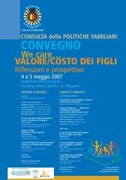 Riflessioni e prospettive - Centro servizi amministrativi di Bergamo