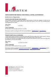 Visite guidate per singoli visitatori - Castello Sforzesco