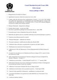 Conseil Municipal du jeudi 23 mars 2006 Ordre du ... - Châteauroux