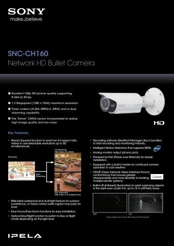 Camera IP HD de tip bullet Sony SNC-CH160 - GTO Security ...