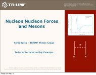 Nuclear Forces and Mesons - Triumf
