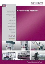 catalogue 2010/2011 Metal working machines ... - Costa & Garcia
