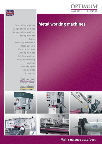 catalogue 2010/2011 Metal working machines ... - Costa & Garcia
