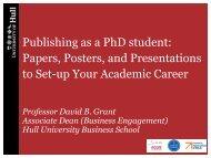 Publishing as a PhD student