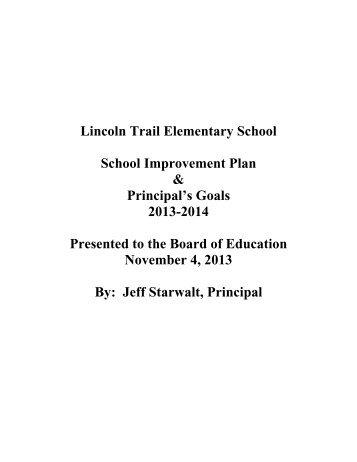 School-Improvement Plan 2012-2013 Lincoln Trail Elementary School