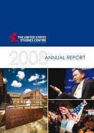 Annual Report 2008 - United States Studies Centre