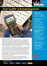 Serie LanTEK® II Verkabelungstester - PK Elektronik