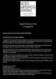 Viaggio di Istruzione a Trieste 4-5 maggio 2012 ... - Polo Valboite