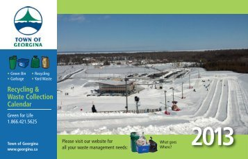 2013 Waste Management Calendar - Town of Georgina