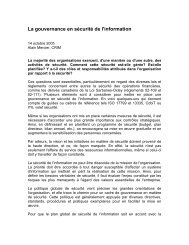 La gouvernance en sécurité de l'information - CRIM