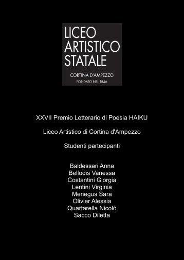 XXVII Premio Letterario di Poesia HAIKU Liceo ... - Polo Valboite