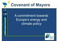 Covenant of Mayors - Assessorato alle Politiche Ambientali ...