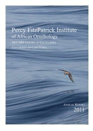 Annual Report - Percy FitzPatrick Institute of African Ornithology ...