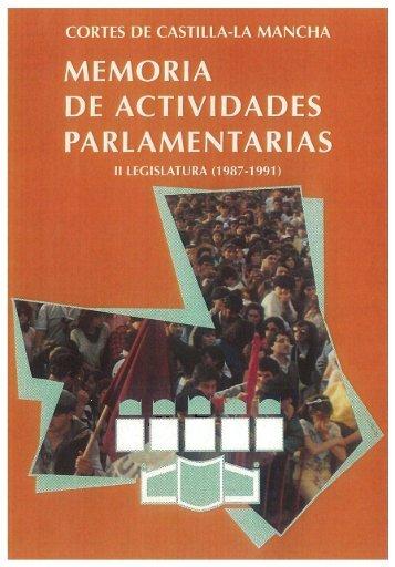 memoria de actividades parlamentarias - Cortes de Castilla-La ...