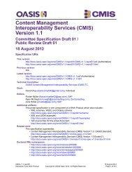 Content Management Interoperability Services (CMIS) Version 1.1