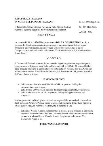 T.A.R. Sicilia - UTFP