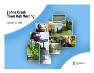 City of Johns Creek Town Hall Meeting Presentation, October 26, 2007