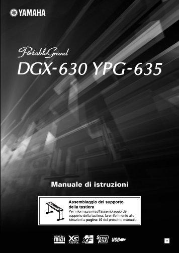 DGX-630 YPG-635 Owner's Manual - Scavino Strumenti Musicali