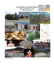 HISTORIAS COMUNITARIAS - conafe.edu.mx